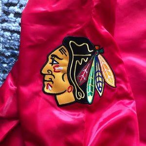 STARTER Jackets & Coats - NWT Authentic Blackhawks Men's Starter Jacket XL